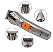 Машинка для стрижки мультитриммер для стрижки волос бороды носа ушей 7в1 Pro Gemei GM-580, фото 8