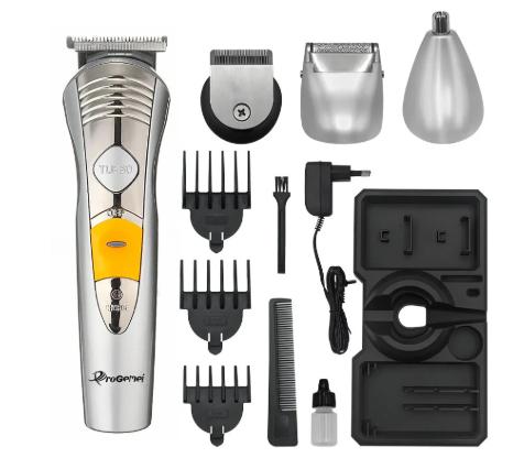 Машинка для стрижки мультитриммер для стрижки волос бороды носа ушей 7в1 Pro Gemei GM-580