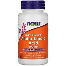 """Альфа-липоевая кислота NOW Foods """"Alpha Lipoic Acid"""" экстра сила, 600 мг (60 капсул)"""