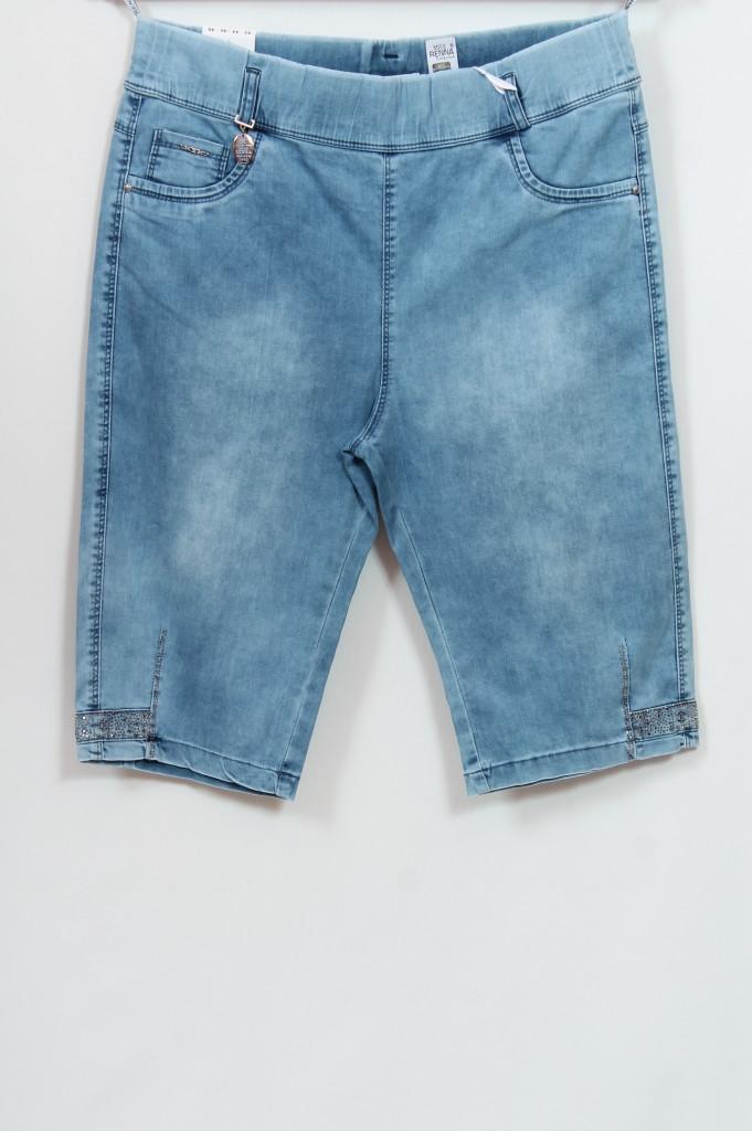 Турецкие женские джинсовые шорты со стразами, большие размеры 56-64