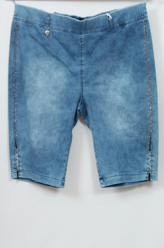 Турецкие женские джинсовые шорты со стразами, большие размеры 48-64