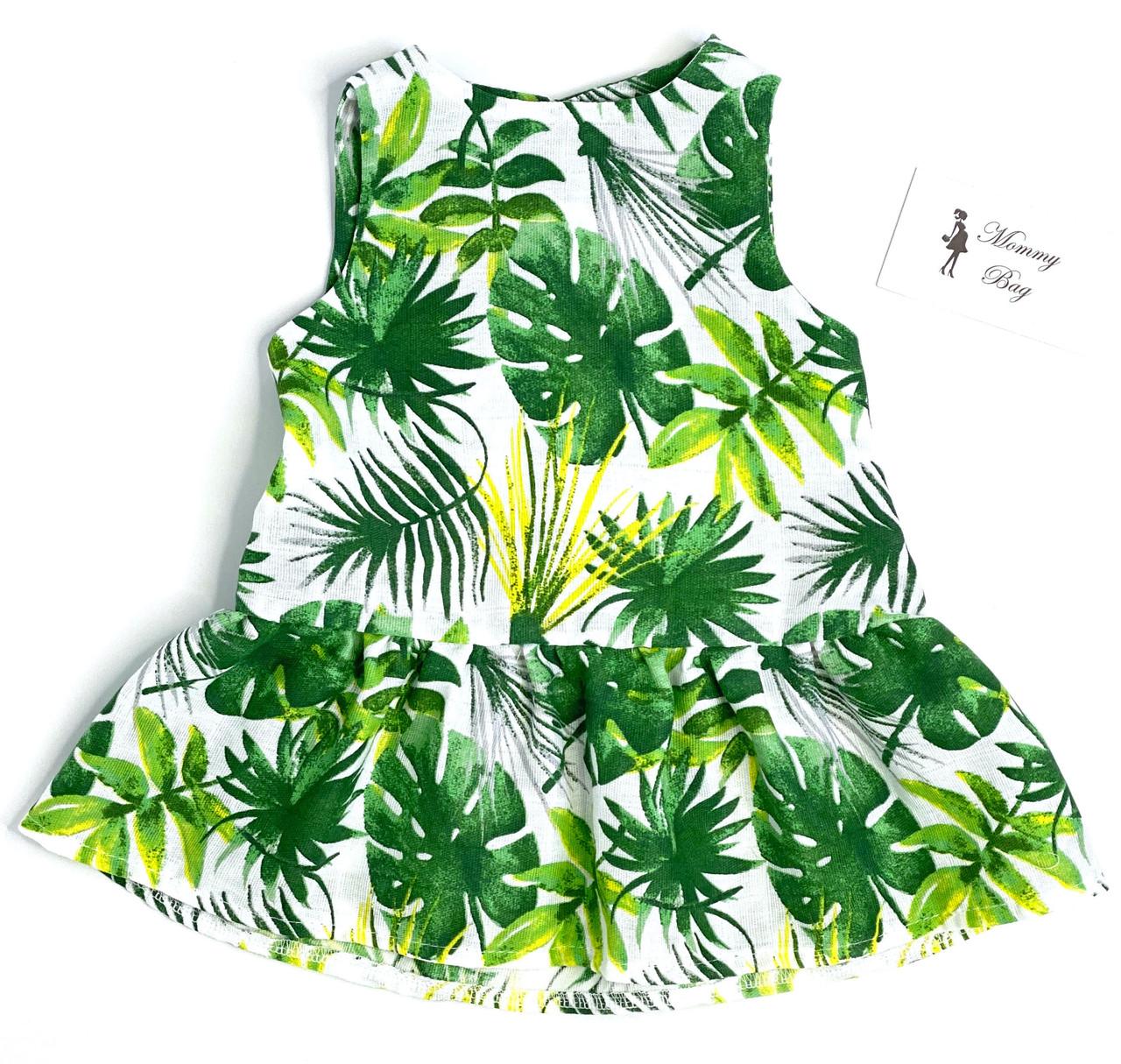 Муслиновое платье RoyalBaby Тропик 0-6 мес