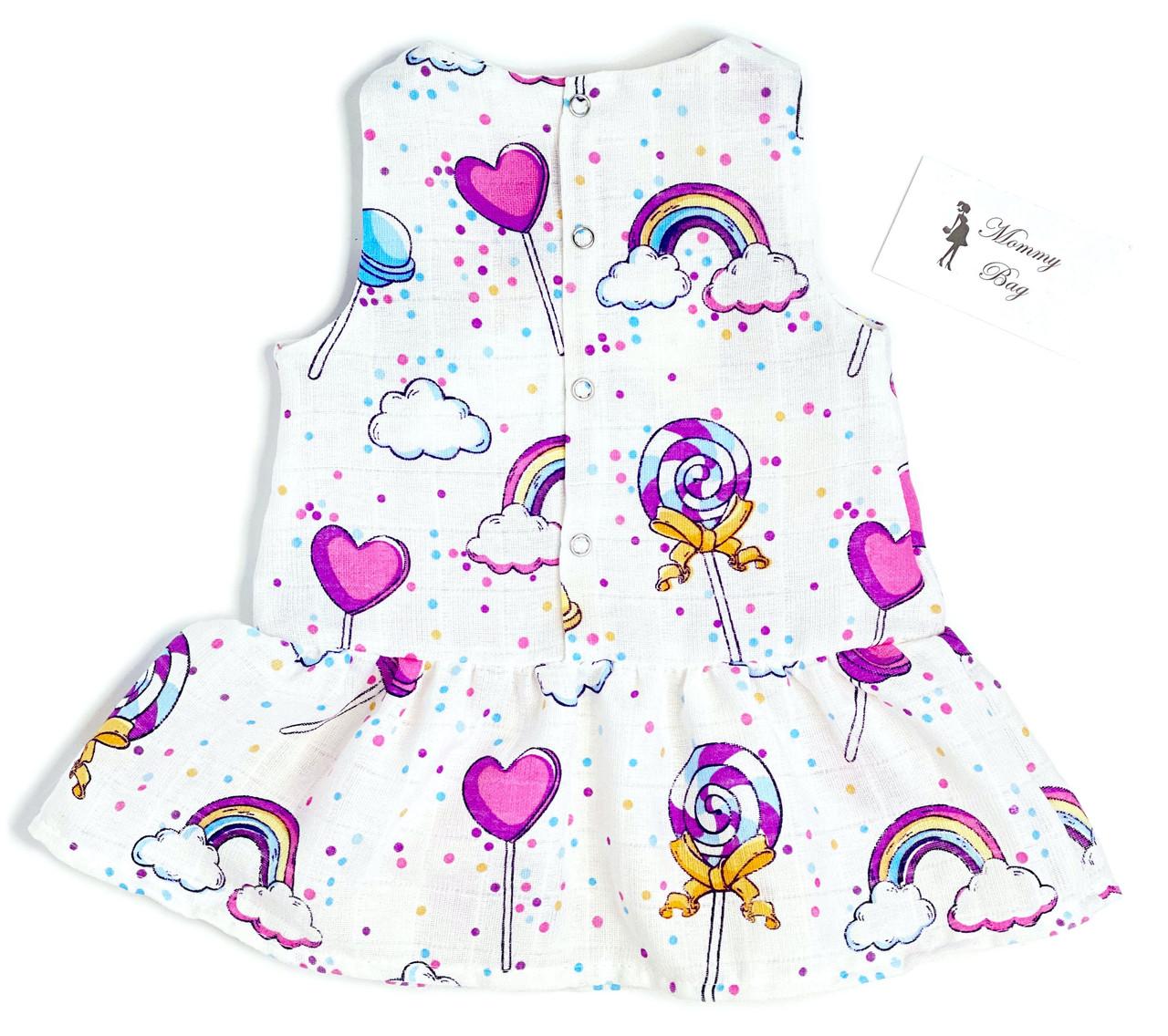 Муслиновое платье RoyalBaby Конфетки 0-6 мес