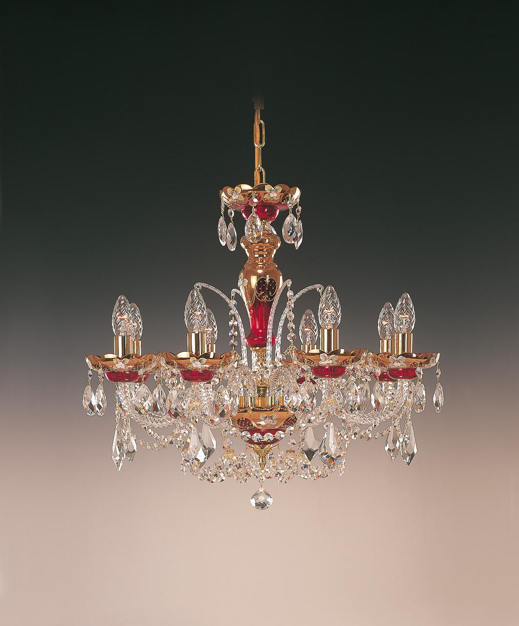 Чешский светильник с художественной росписью