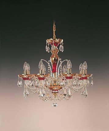 Чешский светильник с художественной росписью, фото 2