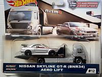 Коллекционная машинка Hot Wheels Team Transport Aero Lift и Nissan Skyline GT-R (BNR34), фото 1