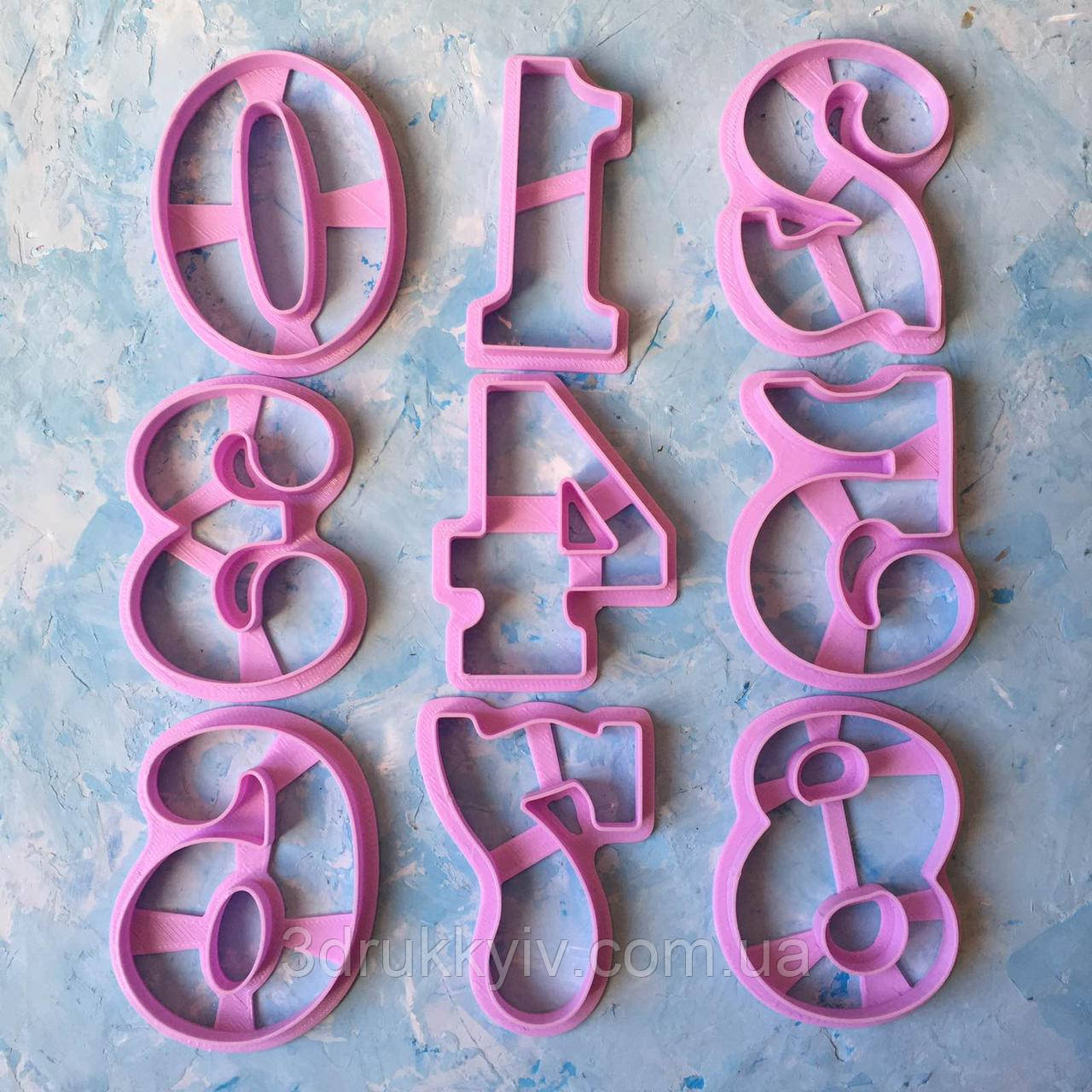 """Вирубки для пряників """"Цифри, набір цифр #4 9 см"""" / Вырубки - формочки для пряников """"Цифры, набор цифр #4"""""""