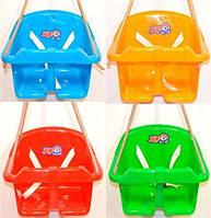 """Гойдалка дитяча """"Малюк"""" Качели подвесные """"Малыш"""" для самых маленьких качель пластиковая для дома и сада качеля"""