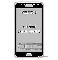 Защитное стекло 5D Full Glue для Samsung Galaxy J4 (2018) SM-J400 Black (Screen Protector 0,3 мм)