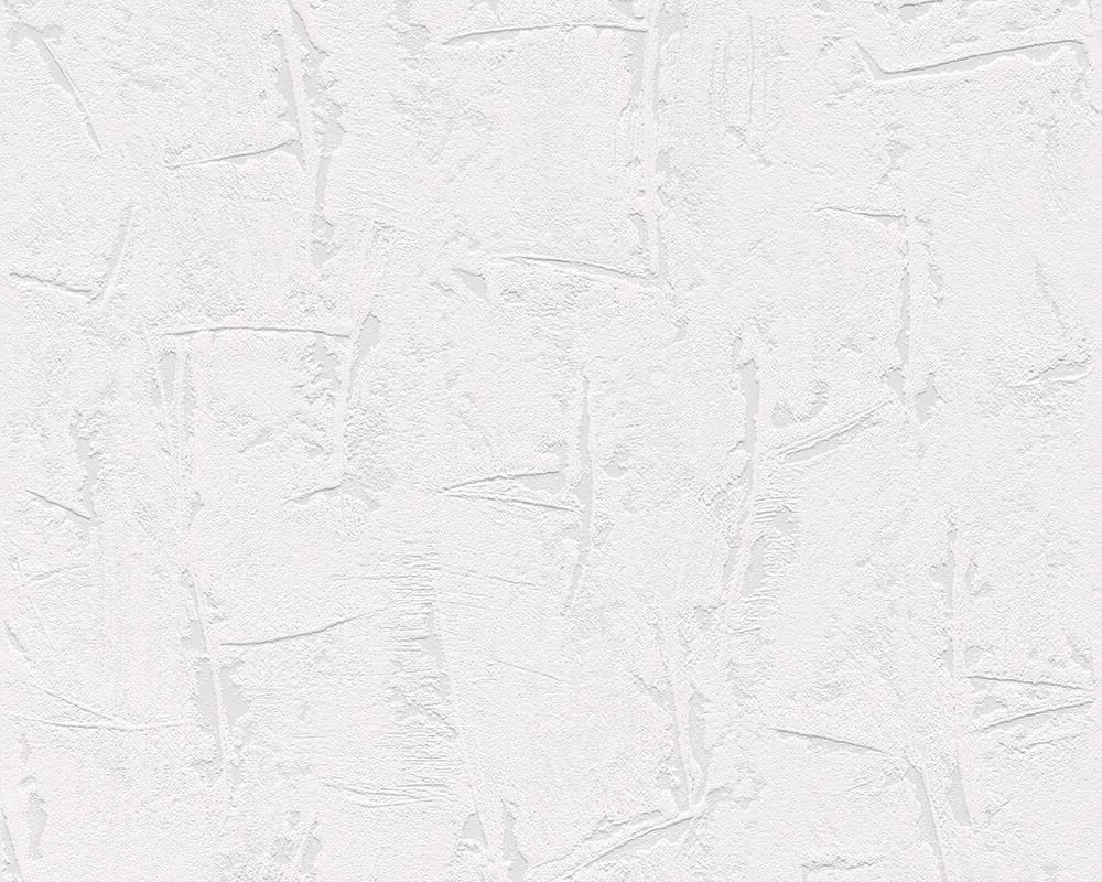 Виниловые объемные обои 288639 белая фактурная штукатурка на стене в лофт, моющиеся на флизелиновой основе