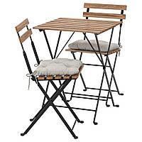 Комплект садовой мебели,стол,2 стула,подушки