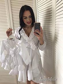 Детское белое платье с рюшами на 2-3 года 51md27