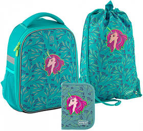 Рюкзак укомплектованный Kite Education Lovely Sophie 35x26x13.5 см 22 л Бирюзовый (SET_K20-555S-5)