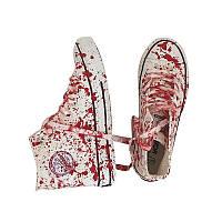 Кроссовки дизайнерские с брызгами крови , оригинальные , стильные .