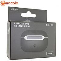 Чехол Silicone Case Ultra Thin для AirPods Pro (Black) без карабина