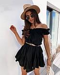 Женское платье свободного кроя креп-лён со спущенными плечами (в расцветках), фото 8