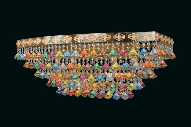 Разноцветная хрустальная люстра Еlite Bohemia L 727/12/07, фото 2