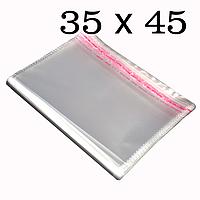 Упаковочные пакеты с верхним клапаном и липкой полосой 35х45 (1000шт.)