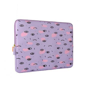 Чехол для ноутбука до 17 дюймов с дополнительным карманом YES Donna 30х41см Фиолетовый (558573)