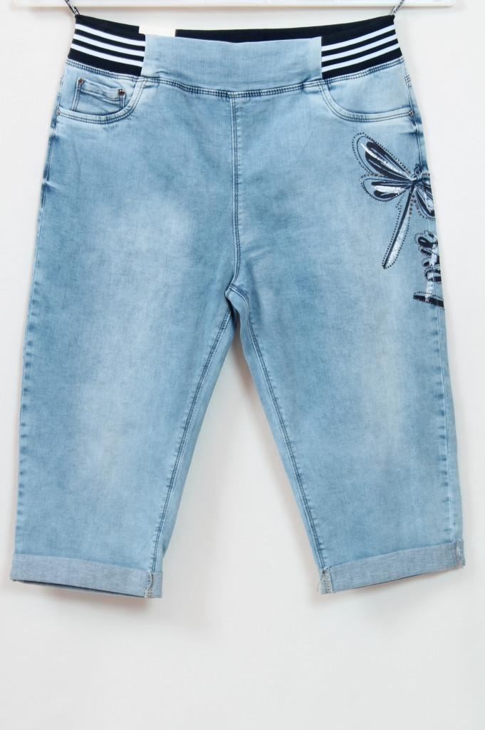 Турецкие женские джинсовые шорты со стразами, большие размеры 50-56