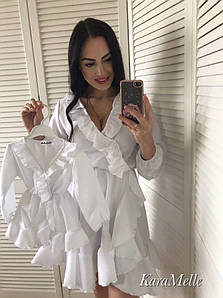 Детское белое платье с рюшами на 2-3 года 51qr27