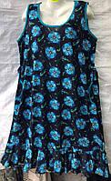 Женское трикотажное платье Баталы (р-р 50-58) оптом в Одессе.