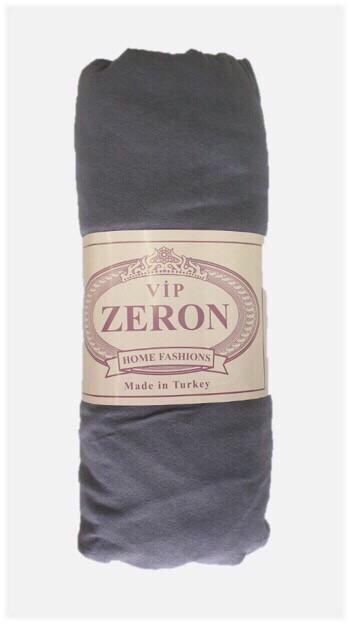 Простынь на резинке трикотажная 90*200 темно-серая (TM Zeron), Турция