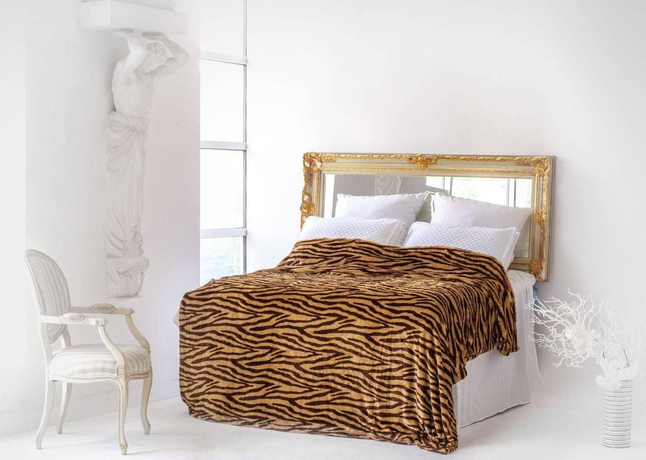 Покрывало меховое тигровое 220х230 фирмы Sofita