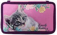 """Пенал Class 2-яр.,пустий,""""Lovely Kitties"""", 210/70D PL, 20401С"""