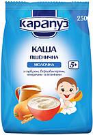 Молочна каша Карапуз пшенична з гарбузом, біфідобактеріями та вітамінами 250 г