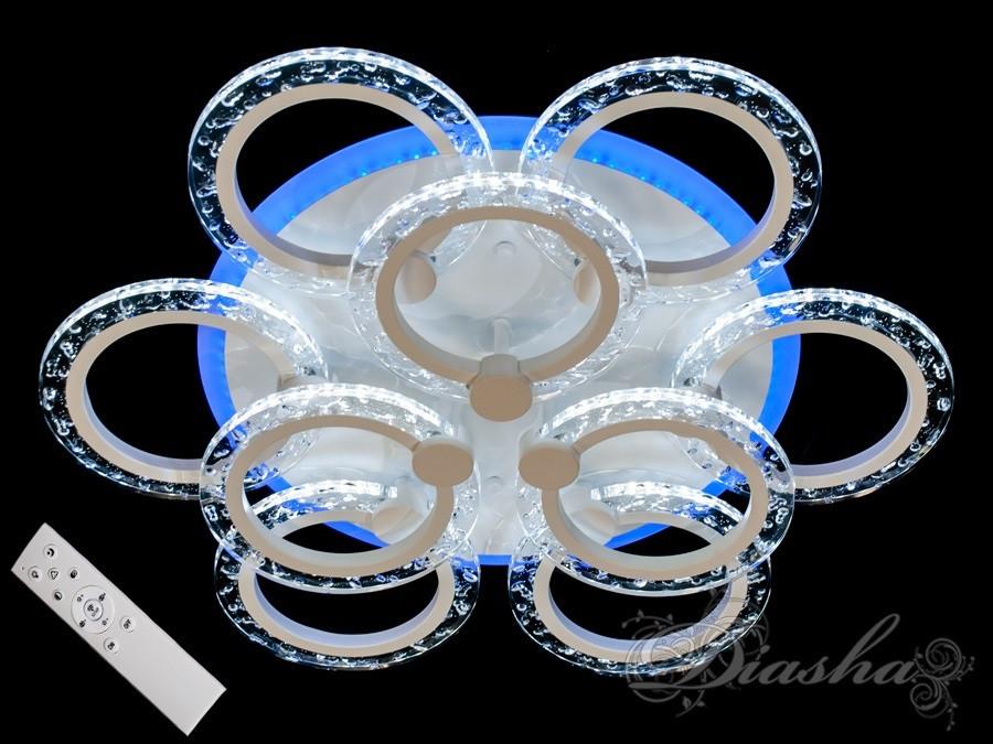 Стельова світлодіодна люстра з діммером QX2509/6+3S WH LED 3color dimmer