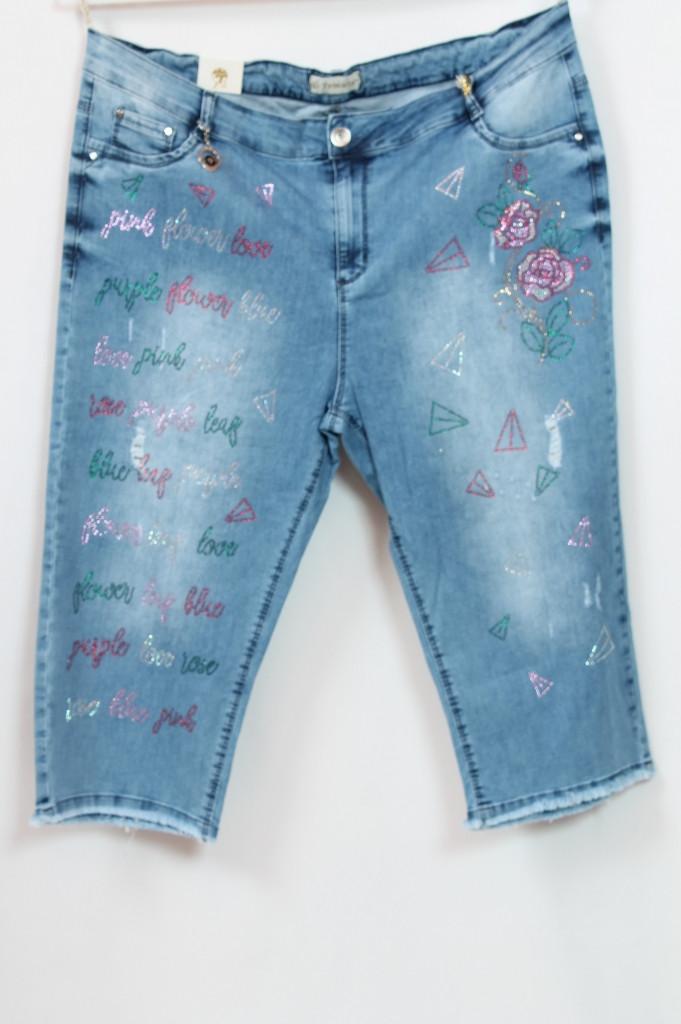 Турецкие женские летние джинсовые шорты, большие размеры 48-64