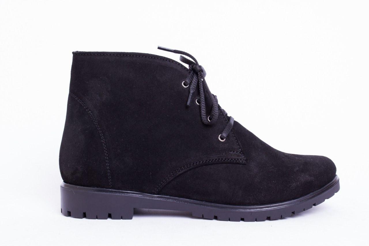Ботинки из натуральной черной замши №123-2