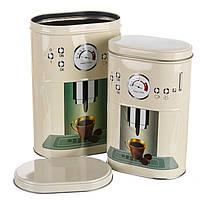 Набор из 2-ух жестяных банок для чая и кофе 1083JH баночки для специй банки для круп