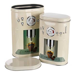 Набор из 2-ух жестяных банок для чая и кофе  1083JH