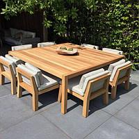 """Комплект мебельный """"Джош"""", стол и стулья, стол и кресла, комплект мебели из натурального дерева,"""