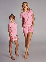 Пижама для женщин, комплект для дома, шорты и футболка, LNP 293/001, AURORA, 95% хлопок, ELLEN