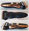 Машинка аккумуляторная  для стрижки волос  и бороды  3 В 1 триммер бритва GEMEI GM-595, фото 5