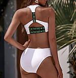 Спортивный раздельный купальник белый, L, фото 3