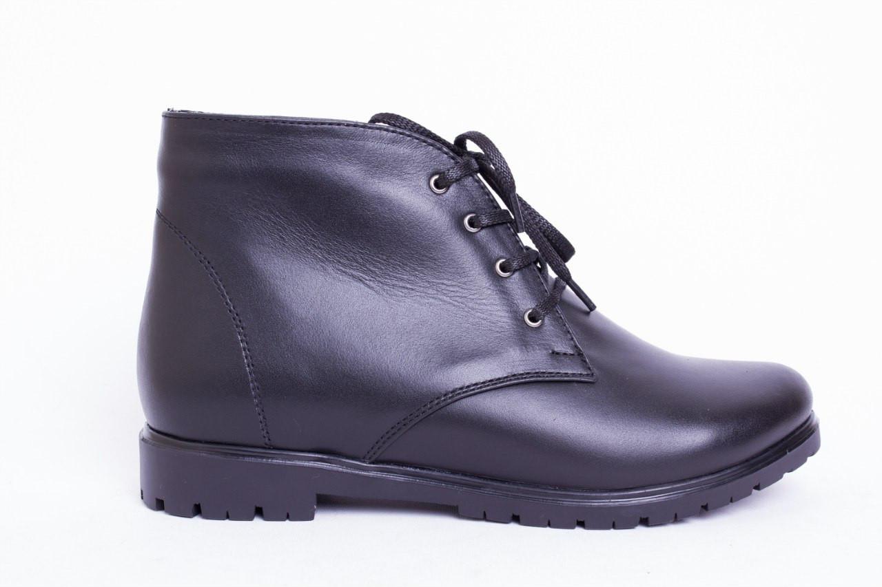 Ботинки из натуральной черной кожи №123-1