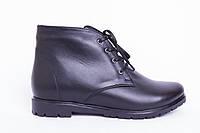 Ботинки из натуральной черной кожи №123-1, фото 1