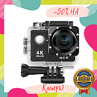 Экшн-камера Action Camera B5 WiFi 4K с водонепроницаемым боксом go pro
