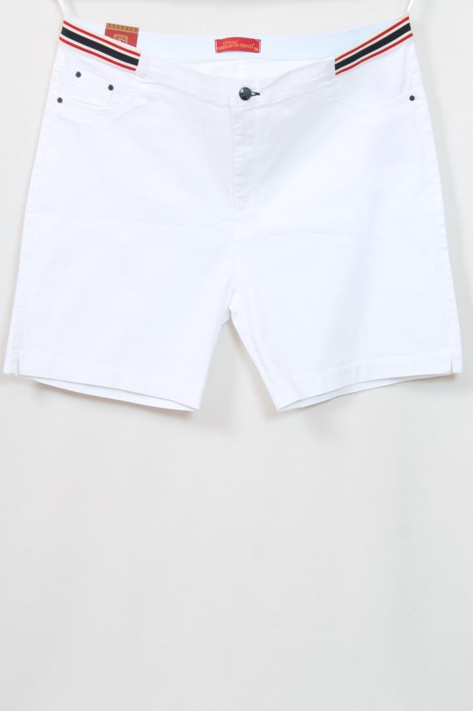 Турецкие женские летние белые шорты больших размеров 56-62