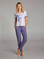 Пижама для женщин, комплект для дома, штаны и футболка, LNP 237/002 VIOLA, 95% хлопок, ELLEN, фото 1