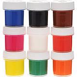"""Гуаш """"Мультики"""" в баночках по 20 мл, 9 класичних кольорів, у картонній упаковці, фото 3"""