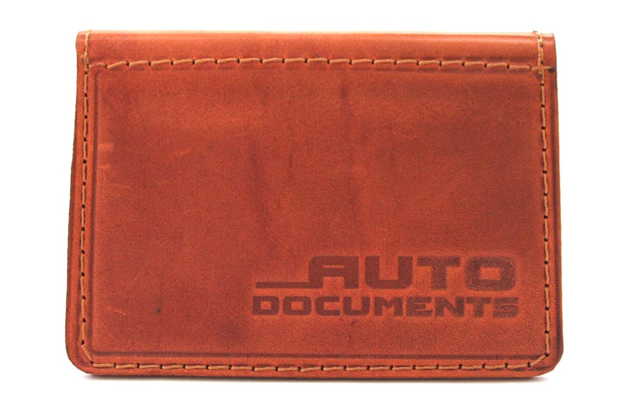 Компактное портмоне для автодокументов из натуральной кожи YR 1005