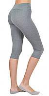 Бриджи женские спортивные больших размеров, светлые бриджи для фитнеса батал Valeri 4018 Б, фото 1