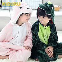 Кигуруми динозаврик детский новогодний костюм