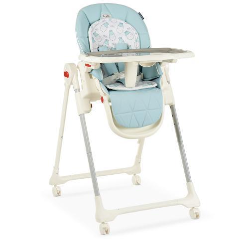 Детский cтульчик для кормления ME 1037  CRYSTAL MILK SKY BLUE