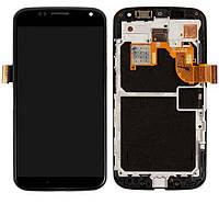 Дисплей для Motorola Moto X XT1053, XT1055, XT1058, XT1060, модуль (экран и сенсор), с рамкой, оригинал